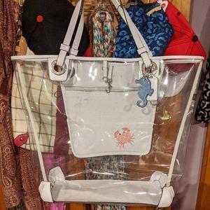 Coach Clear Vinyl Beach Bag